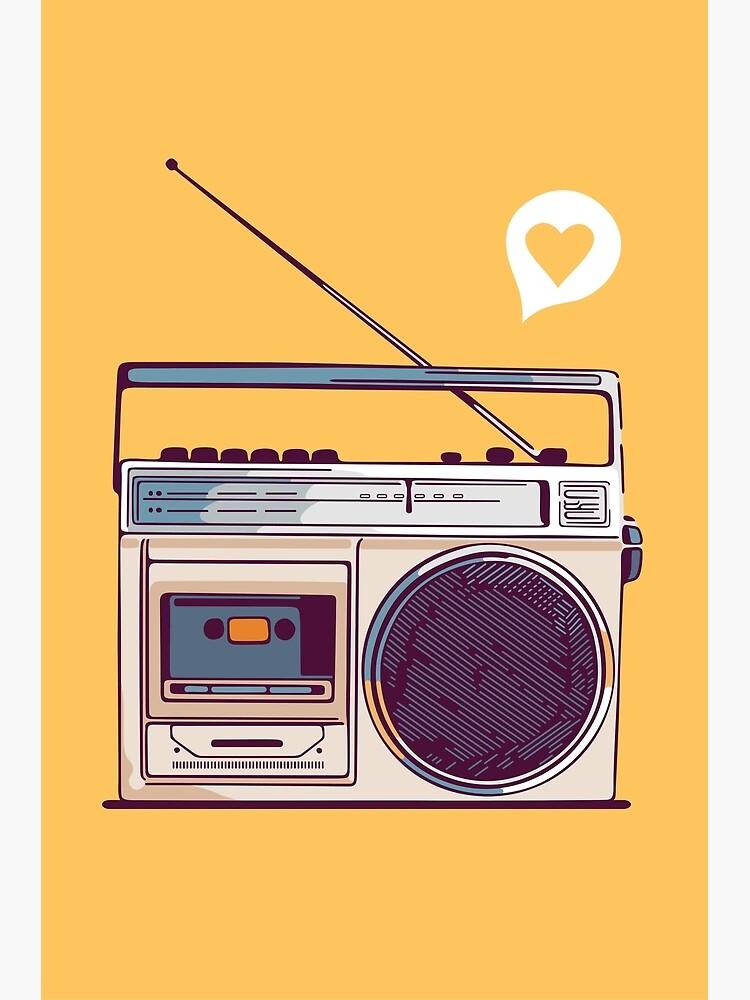 Retro Radio Boombox by sundrystudio