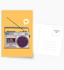 Retro Radio Boombox Postcards