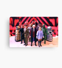 Third Doctor Figures Canvas Print
