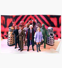 Third Doctor Figures Poster