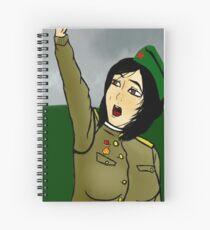 Red Army Woman Singing Katyusha Spiral Notebook