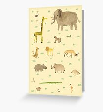 African Animals Greeting Card