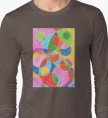 2206 - Colored Balls Moving and Shining through each other T-Shirt