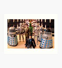 Second Doctor Figures Art Print