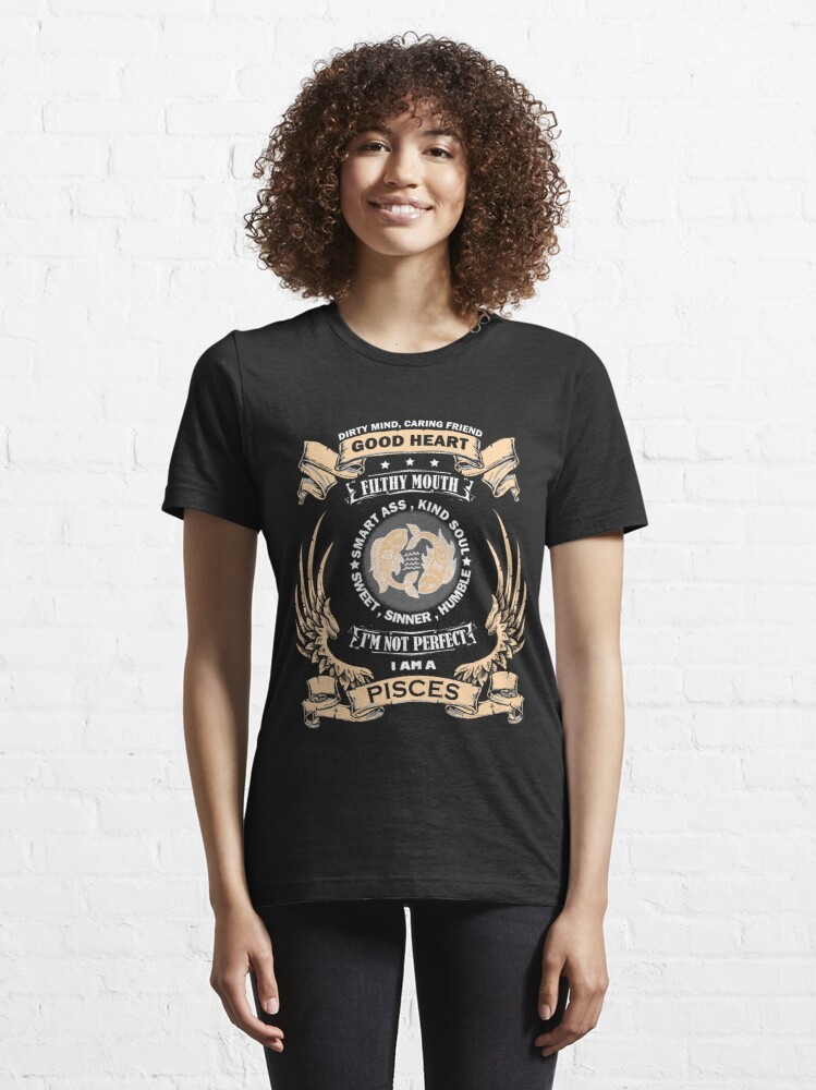 Alternate view of Zodiac Sign - Pisces Essential T-Shirt