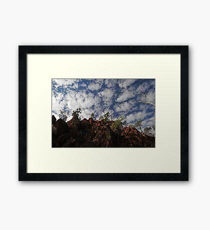 Australian outback scene Framed Print
