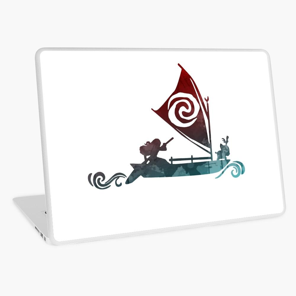 Boot inspiriert Silhouette Laptop Folie