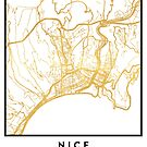 NICE FRANCE CITY STREET MAP ART by deificusArt