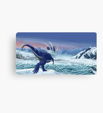 Shiny Tyrantrum Poke paleoart Canvas Print
