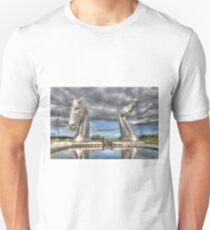 the Kelpies , Helix Park , Grangemouth  654 Unisex T-Shirt
