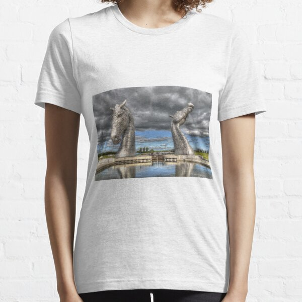 the Kelpies , Helix Park , Grangemouth  654 Essential T-Shirt