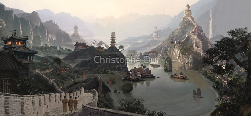 Old China - Matte paintings by Christophe Dur