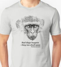 Grumpy Monkey with Bad Day Proverb | African Wildlife T-Shirt