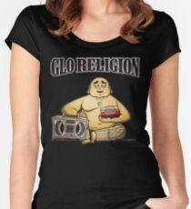GLO religion glogangworldwide  Women's Fitted Scoop T-Shirt