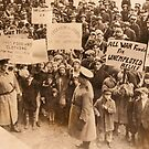 New York - Anti War Demo, 1917, WW1 by Remo Kurka