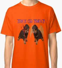 Cute Rottweiler Halloween Trick or Treat Vector Classic T-Shirt