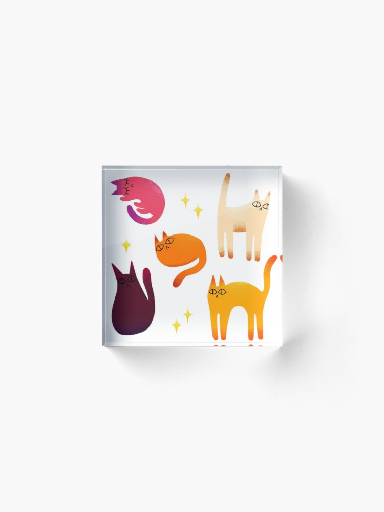 Alternate view of grumpy cats 1 Acrylic Block