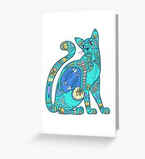 pattern cat Greeting Card