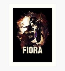 League of Legends FIORA Art Print