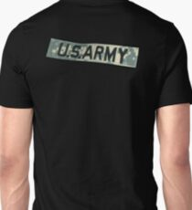 ARMY, US ARMY BADGE, Army Combat Uniform, Military, on Black T-Shirt