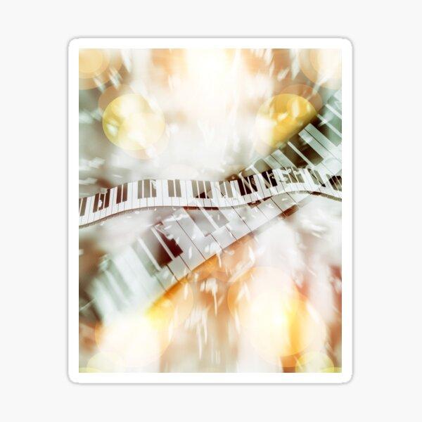 Piano Keyboard Abstract Sticker