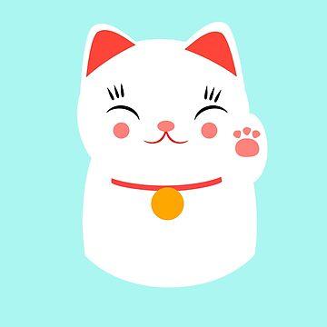 Lucky gato japonés feliz de EuGeniaArt
