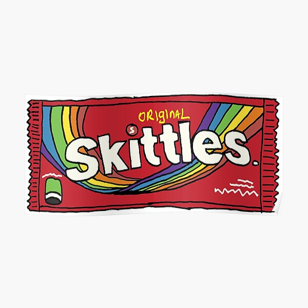 Skittles Illustration Poster