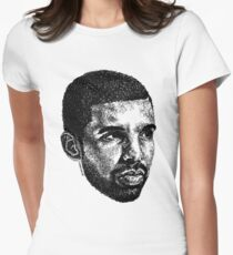 Scribbled Drizzy Women's Fitted T-Shirt