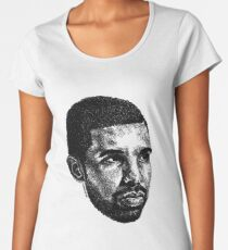 Scribbled Drizzy Frauen Premium T-Shirts