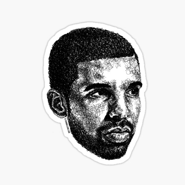 Scribbled Drizzy Sticker