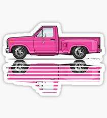 80's Custom Pink Stepside Sticker
