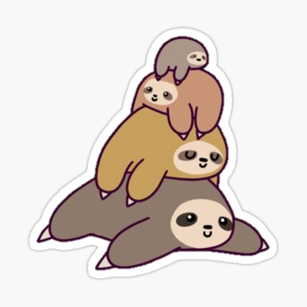Stack Of Sloths Sticker