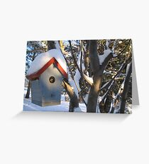 Snow covered rooftop Greeting Card