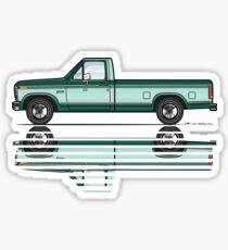 Green 80's Truck Sticker