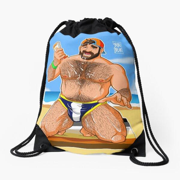 ADAM LIKES SUN LOTION Drawstring Bag