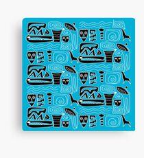 Africa Blues Canvas Print
