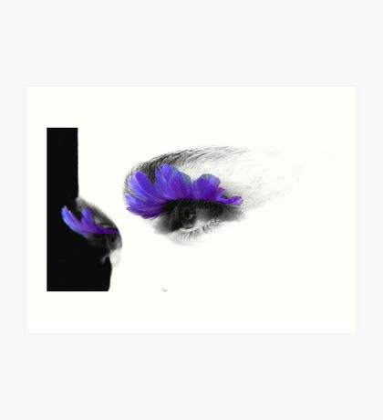 feathery eyes ... punked series Art Print