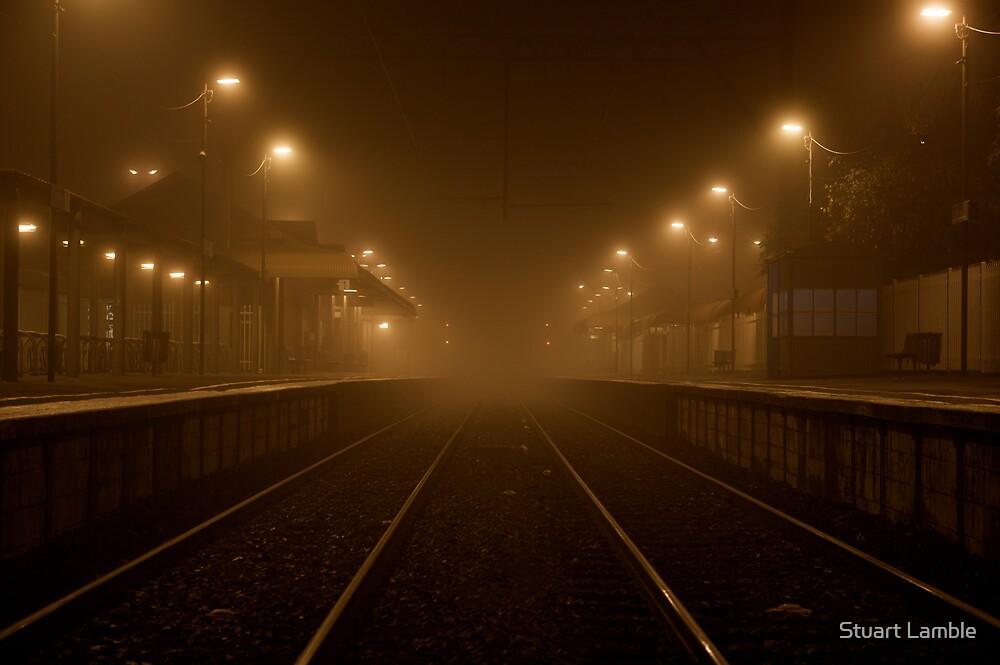 Foggy station by Stuart Lamble