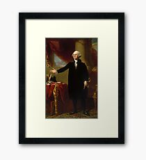 Vintage George Washington Portrait Painting 2  Framed Print