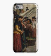 Fausto Zonaro - Street and market genre scenes iPhone Case/Skin