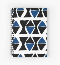blue and black triangles Spiral Notebook