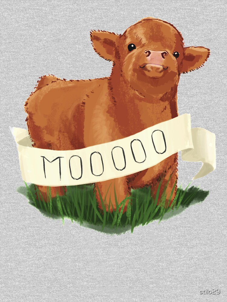 Baby Highland Cow by stilo29