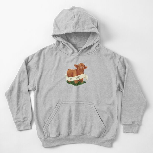 Baby Highland Cow Kids Pullover Hoodie