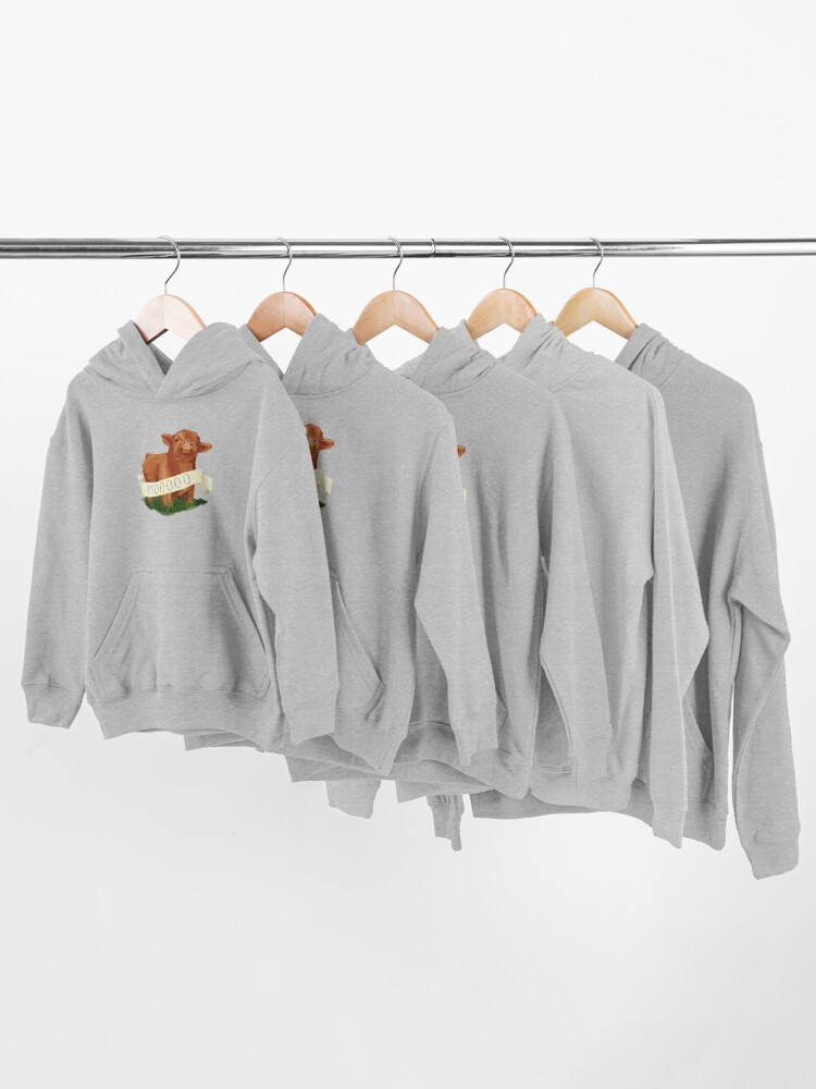 Alternate view of Baby Highland Cow Kids Pullover Hoodie