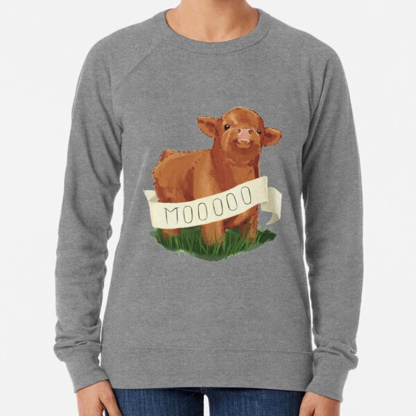 Baby Highland Cow Lightweight Sweatshirt