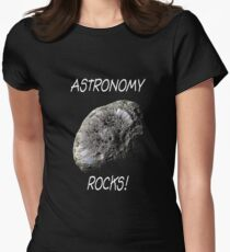 Astronomy Rocks! Women's Fitted T-Shirt