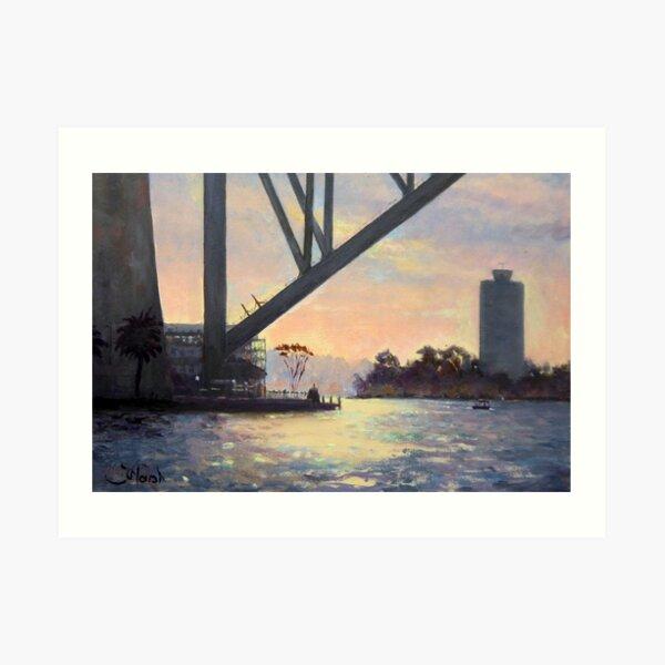 Under the Bridge, Sydney Harbour Painting Art Print