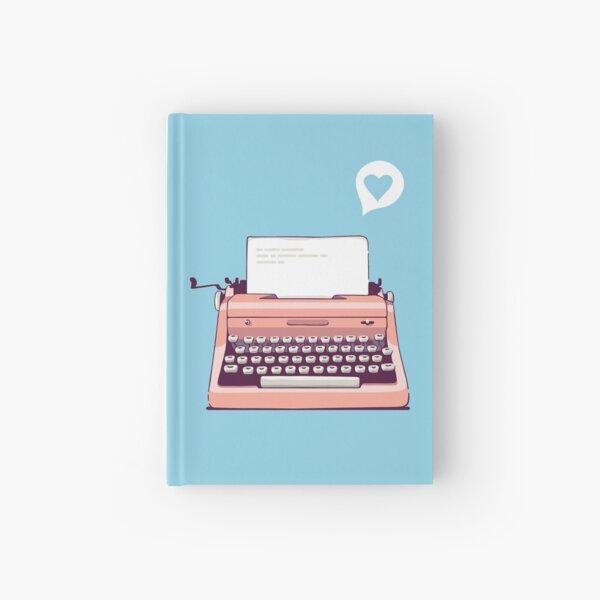 Pink Retro Typewriter Hardcover Journal
