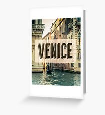 Retro Venice Grand Canal Poster Greeting Card
