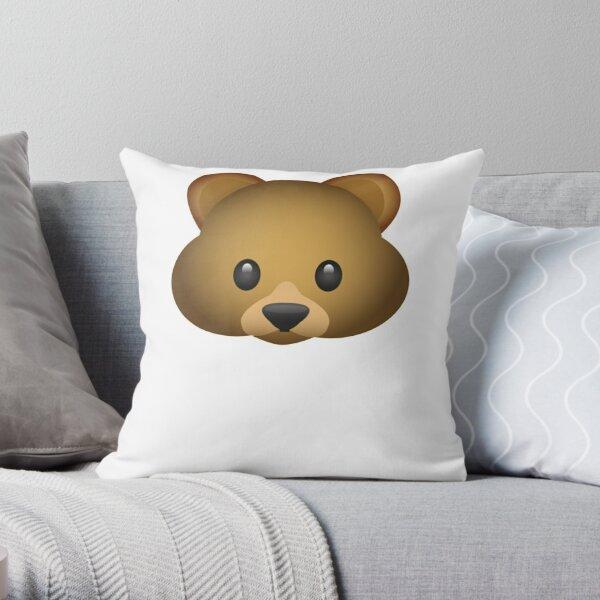 Cute And Cuddly Bear Emoji Throw Pillow